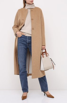 Женское пальто из шерсти и кашемира ESCADA бежевого цвета, арт. 5033592 | Фото 2