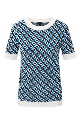 Женский пуловер из вискозы ESCADA голубого цвета, арт. 5033553 | Фото 1