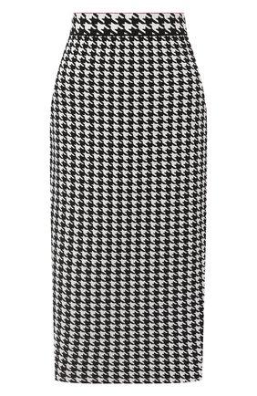 Женская юбка из вискозы ESCADA черно-белого цвета, арт. 5033551 | Фото 1