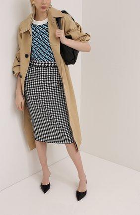 Женская юбка из вискозы ESCADA черно-белого цвета, арт. 5033551 | Фото 2