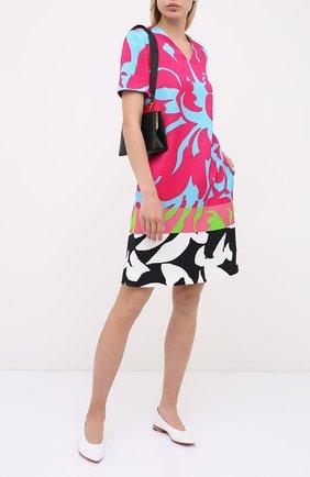 Женское платье из хлопка и вискозы ESCADA разноцветного цвета, арт. 5033542 | Фото 2