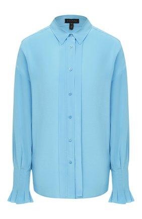 Женская шелковая рубашка ESCADA голубого цвета, арт. 5033519 | Фото 1