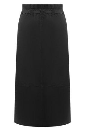 Женская кожаная юбка ESCADA черного цвета, арт. 5033446 | Фото 1