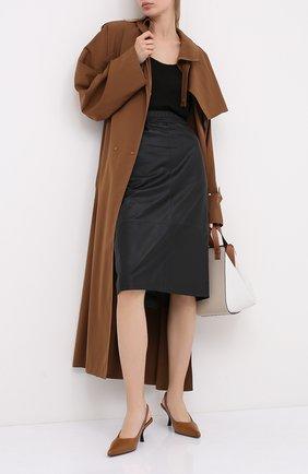 Женская кожаная юбка ESCADA черного цвета, арт. 5033446 | Фото 2