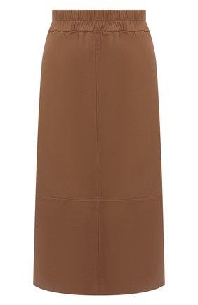 Женская кожаная юбка ESCADA бежевого цвета, арт. 5033446 | Фото 1