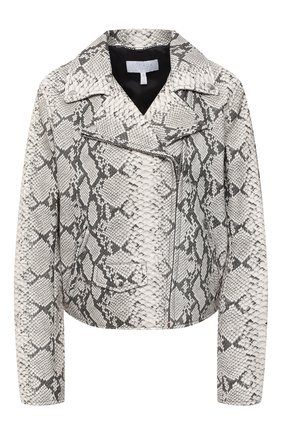 Женская кожаная куртка ESCADA SPORT серого цвета, арт. 5033436 | Фото 1
