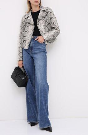 Женская кожаная куртка ESCADA SPORT серого цвета, арт. 5033436 | Фото 2