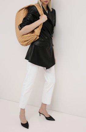 Женские джинсы GRLFRND черно-белого цвета, арт. GF43558851278 | Фото 2