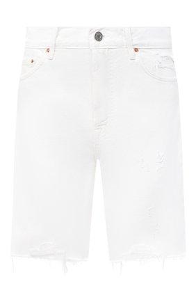 Женские джинсовые шорты GRLFRND черно-белого цвета, арт. GF42548851338 | Фото 1 (Материал внешний: Хлопок, Деним; Женское Кросс-КТ: Шорты-одежда; Стили: Кэжуэл; Длина Ж (юбки, платья, шорты): До колена; Кросс-КТ: Деним)