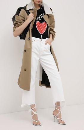 Женские джинсы GRLFRND черно-белого цвета, арт. GF42088851318 | Фото 2