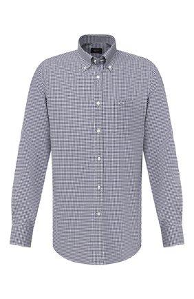 Мужская хлопковая рубашка PAUL&SHARK темно-синего цвета, арт. C0P3004/C00 | Фото 1