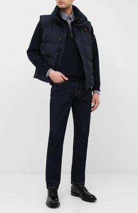 Мужская хлопковая рубашка PAUL&SHARK темно-синего цвета, арт. C0P3004/C00 | Фото 2