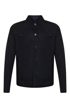 Мужская замшевая куртка ANDREA CAMPAGNA темно-синего цвета, арт. A9T903/5319 | Фото 1