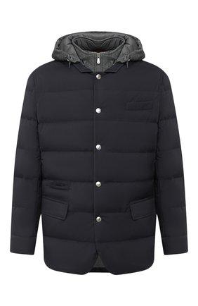 Мужская пуховая куртка BRUNELLO CUCINELLI темно-синего цвета, арт. MM4593830G | Фото 1