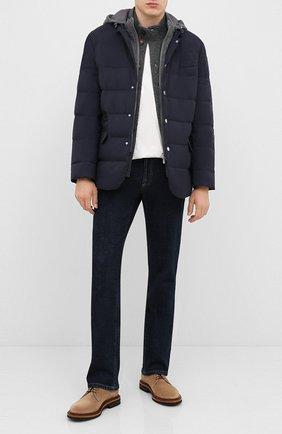 Мужская пуховая куртка BRUNELLO CUCINELLI темно-синего цвета, арт. MM4593830G | Фото 2