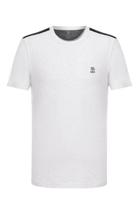 Мужская хлопковая футболка BRUNELLO CUCINELLI светло-серого цвета, арт. M0T611550G | Фото 1