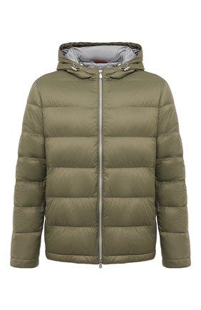 Мужская пуховая куртка BRUNELLO CUCINELLI хаки цвета, арт. MR4051744 | Фото 1