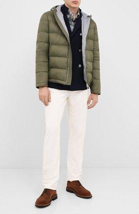 Мужская пуховая куртка BRUNELLO CUCINELLI хаки цвета, арт. MR4051744 | Фото 2