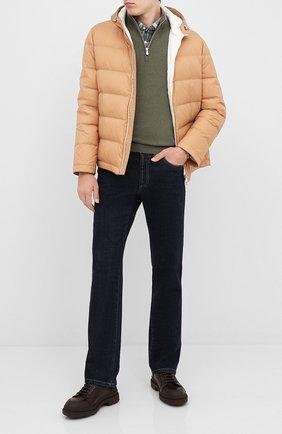 Мужская пуховая куртка BRUNELLO CUCINELLI бежевого цвета, арт. MR4051744 | Фото 2