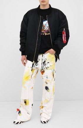 Мужская хлопковая футболка VETEMENTS черного цвета, арт. UAH21TR617 1611/M   Фото 2 (Материал внешний: Хлопок; Рукава: Короткие; Мужское Кросс-КТ: Футболка-одежда)