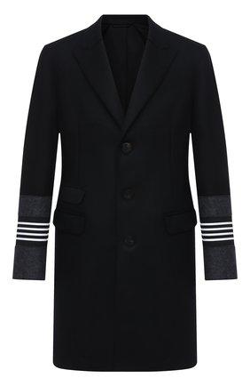 Мужской шерстяное пальто NEIL BARRETT черного цвета, арт. PBCA326CZ/P024C | Фото 1