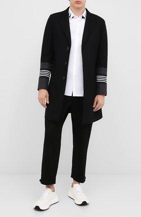 Мужской шерстяное пальто NEIL BARRETT черного цвета, арт. PBCA326CZ/P024C | Фото 2