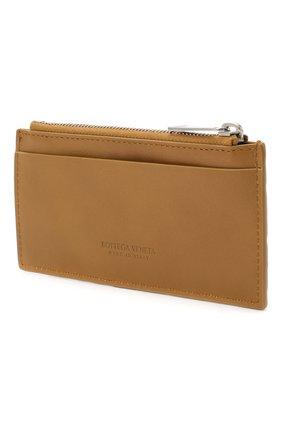 Мужской кожаный футляр для кредитных карт BOTTEGA VENETA светло-коричневого цвета, арт. 591379/VCPQ3 | Фото 2