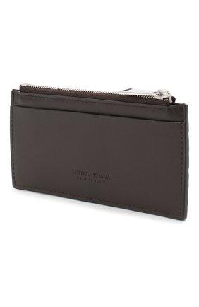 Мужской кожаный футляр для кредитных карт BOTTEGA VENETA темно-коричневого цвета, арт. 591379/VCPQ3 | Фото 2