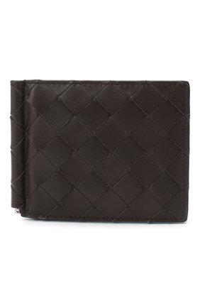Мужской кожаный зажим для денег BOTTEGA VENETA темно-коричневого цвета, арт. 592626/VCPQ4 | Фото 1