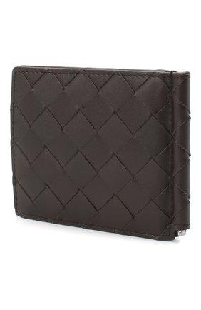 Мужской кожаный зажим для денег BOTTEGA VENETA темно-коричневого цвета, арт. 592626/VCPQ4 | Фото 2