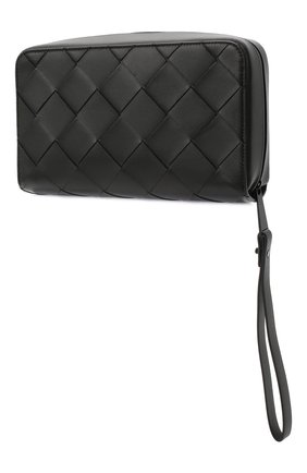Мужской кожаное портмоне BOTTEGA VENETA черного цвета, арт. 629697/VCQT4 | Фото 2