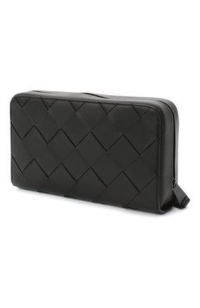 Мужской кожаное портмоне BOTTEGA VENETA черного цвета, арт. 629697/VCQT4 | Фото 3