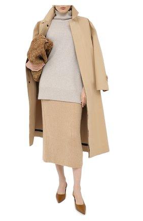 Женская кашемировая юбка LORO PIANA бежевого цвета, арт. FAL2866 | Фото 2