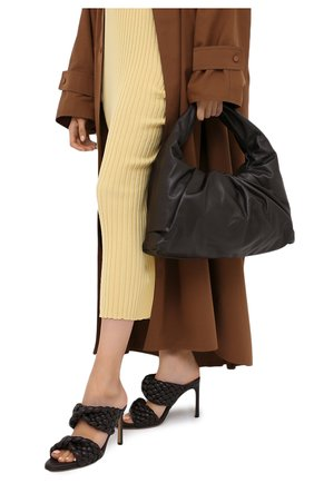 Женская сумка shoulder pouch BOTTEGA VENETA темно-коричневого цвета, арт. 610524/VCP40 | Фото 2