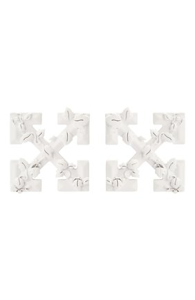 Женские серьги OFF-WHITE белого цвета, арт. 0W0D029S20MET0010100 | Фото 1