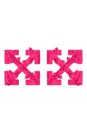 Женские серьги OFF-WHITE розового цвета, арт. 0W0D029S20MET0013000 | Фото 1
