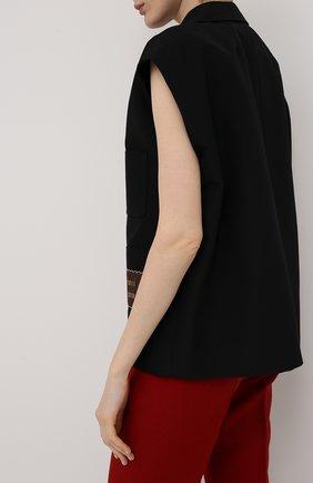 Женский жилет из хлопка и вискозы GUCCI черного цвета, арт. 611943/ZADUU | Фото 4