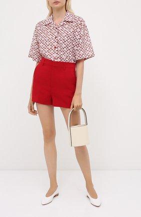 Женские шорты REDVALENTINO красного цвета, арт. UR3RFD30/2EU | Фото 2