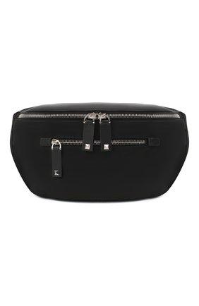 Мужская текстильная поясная сумка valentino garavani  VALENTINO черного цвета, арт. UY2B0664/RPY | Фото 1