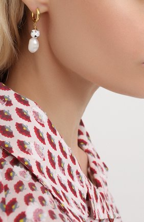 Женские серьги heloise ANNI LU белого цвета, арт. 192-30-42 | Фото 2