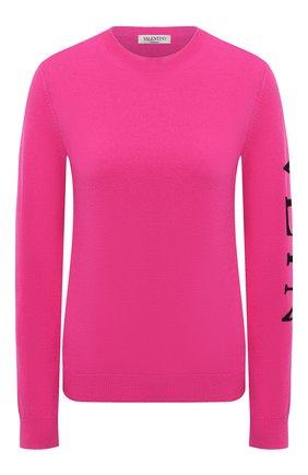 Женская пуловер из шерсти и кашемира VALENTINO фуксия цвета, арт. UB3KCB455SC   Фото 1