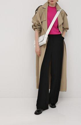 Женская пуловер из шерсти и кашемира VALENTINO фуксия цвета, арт. UB3KCB455SC   Фото 2