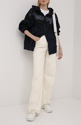 Женская куртка VALENTINO темно-синего цвета, арт. UB3CJ1M04NW | Фото 2