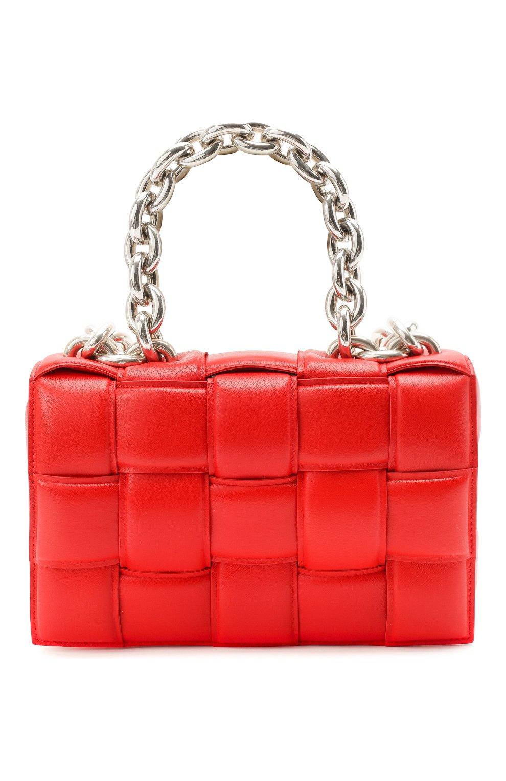 Женская сумка chain cassette BOTTEGA VENETA красного цвета, арт. 631421/VBWZ0   Фото 1