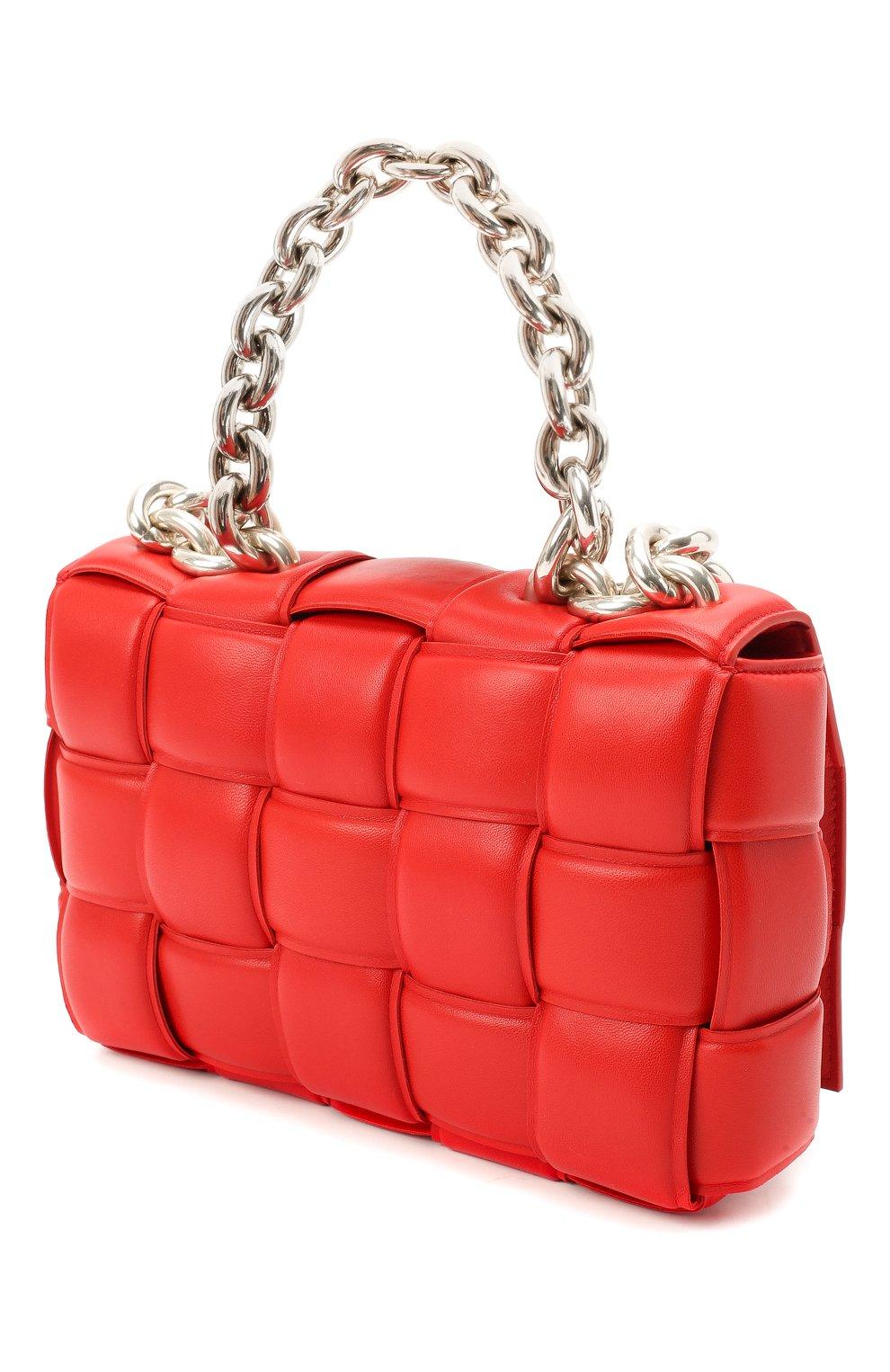 Женская сумка chain cassette BOTTEGA VENETA красного цвета, арт. 631421/VBWZ0   Фото 3