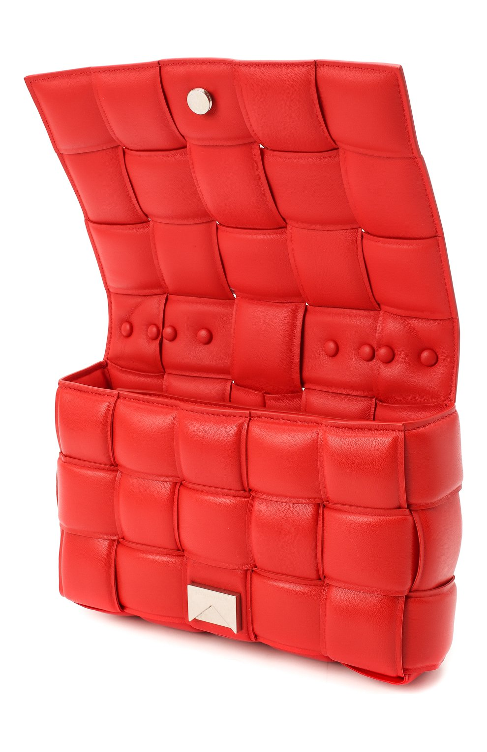 Женская сумка chain cassette BOTTEGA VENETA красного цвета, арт. 631421/VBWZ0   Фото 4