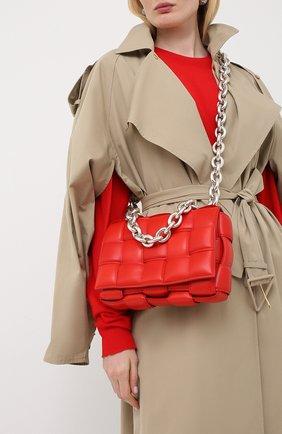 Женская сумка chain cassette BOTTEGA VENETA красного цвета, арт. 631421/VBWZ0   Фото 5