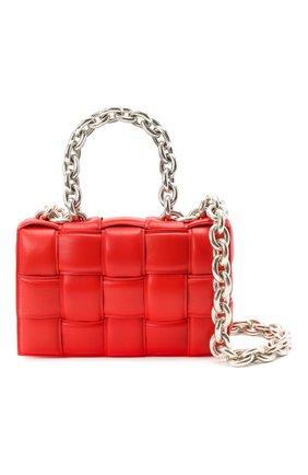 Женская сумка chain cassette BOTTEGA VENETA красного цвета, арт. 631421/VBWZ0   Фото 6