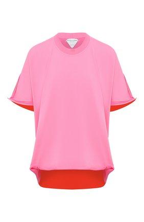 Женская футболка BOTTEGA VENETA розового цвета, арт. 629983/VKWC0 | Фото 1