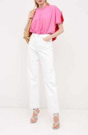 Женская футболка BOTTEGA VENETA розового цвета, арт. 629983/VKWC0 | Фото 2